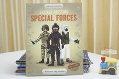 Sách Usborne Sticker Dressing Special Forces