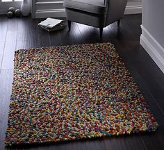 JELLYBEAN PURE NEW WOOL FLUMP RUG MULTICOLOUR candy multi 120 X 170 cm                      – ORIGINS RUG COLLECTIONS