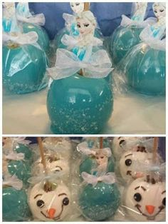 Our original Frozen Themed Candy Apples Chocolate Covered Apples, Chocolate Dipped, Caramel Candy, Caramel Apples, Caramel Dip, Frozen Birthday Party, Frozen Party, Cakepops, Gourmet Candy Apples