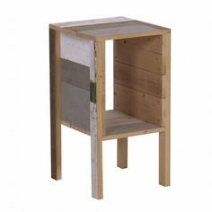 The Future Perfect - Bedside Table in Scrapwood. $479