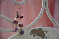 Crea Copine Collection - Earrings with rosé and crystal beads - Unique and handmade - Ordernumber CC-14-051 (Oorringen met rosé en kristallen kralen - Uniek en handgemaakt - Bestelcode CC-14-051) - 10 euro + shipping costs