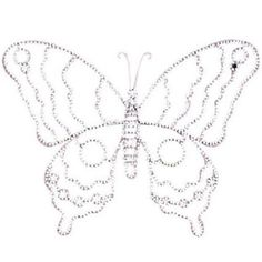 Jubilee Collection WA1004 Wire Beaded Butterfly - Large