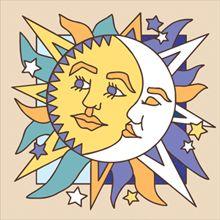 Hand Glazed Decorative Art Tile  http://www.handnhanddesigns.com/products/6x6-tile-sunmoon-face__4305a.aspx