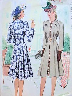 1940s Redingote by McCall 4625