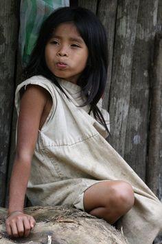 Shy Indigenous Child - Columbia