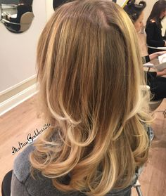 Drybar Straight Up on blonde hair!