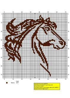 silueta de caballos en punto de cruz - Buscar con Google