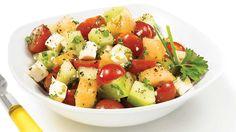 Salade de melons, de tomate et de féta