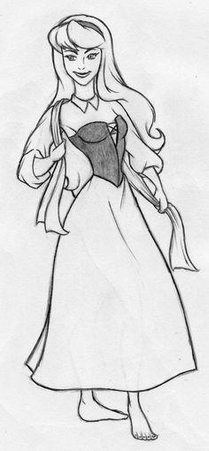 Disney - Aurora sketch by kimberly-castello