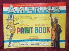 Mr peanut Paint Book 1949 - Unused - Rare to Find in Near Mint to Mint Condition