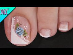 Toe Nail Flower Designs, Pedicure Designs, Toe Nail Art, Toe Nails, Acrylic Nails, Merry Christmas Gif, Flower Nails, Flower Wallpaper, Class Ring