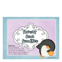 Here's a set of penguin themed fact family cards.