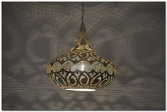 Handcrafted Moroccan Silver Plated Brass Lighting Lantern Hanging Lamp