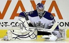 Game worn Jonathan Bernier LA Kings blocker NHL  Anaheim Ducks