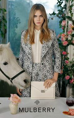 Cara Delevingne Poses With Animals for Mulberry's S/S 2014 Campaign | The Front Row View