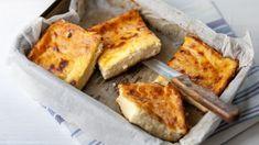 Raňajkový bryndzový koláč (bez múky) | Recepty.sk Atkins, Tiramisu, French Toast, Brunch, Appetizers, Low Carb, Cheese, Snacks, Cooking