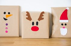 diy-packet-christmas-gift-colored felt-child-reindeer-pere-noel-man-of-nei . diy-paquets-cadeaux-noel-feutrine-colores-enfant-renne-pere-noel-bonhomme-de-nei… diy-packet-christmas-gift-colored felt-child-reindeer-pere-noel-man-of-snow-ninny Christmas Gift Wrapping, Diy Christmas Gifts, Christmas Snowman, Christmas Holidays, Christmas Decorations, Thoughtful Christmas Gifts, Homemade Christmas, Christmas Ideas, Felt Kids