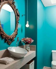 Um luxo seria pouco para descrever este lavabo!