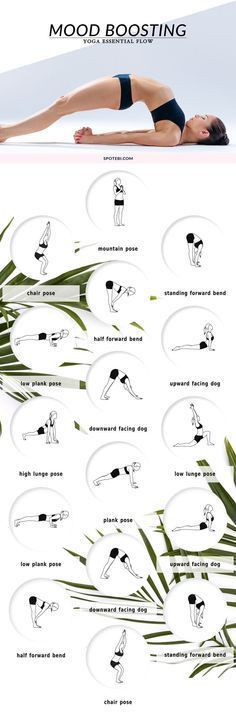 """Beat stress and get happy with these mood-boosting <a class=""""pintag"""" href=""""/explore/yoga/"""" title=""""#yoga explore Pinterest"""">#yoga</a> poses."""