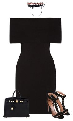 Untitled #1581 by iammelissa on Polyvore featuring polyvore fashion style Rosetta Getty Hermès Fallon Alaïa clothing