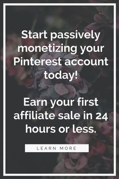 Click to find out how you can start earning money on Pinterest using affiliate marketing today! #AffLink
