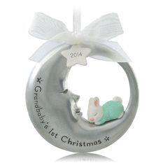 grandbabys first christmas christmas ornaments hallmark
