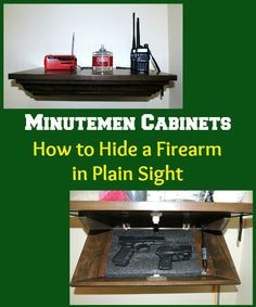 Review & Giveaway!  Minutemen Cabinets How to Hide a Firearm in Plain Sight   Backdoor Survival