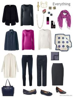 Navy, Hot Pink and Ivory: from Travel Wardrobe to Four by Four Wardrobe