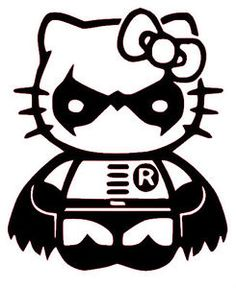 Hello kitty robin car window vinyl decal bumper sticker batman dark knight
