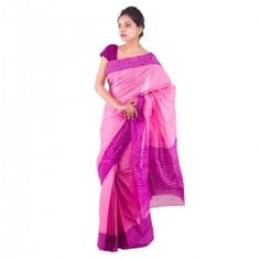 Ethnic Traditional bandhani print cotton saree with blouse.