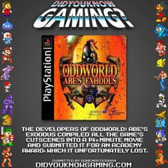 Oddworld: Abe's Exoddus did not win an Academy Award?