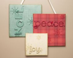 Tone-on-Tone Holiday Wall Hanging #CTMH  (use canvas for added dimension)