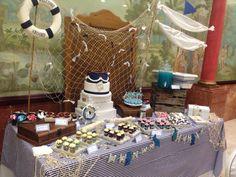 Mesa dulce para comunión marinera...