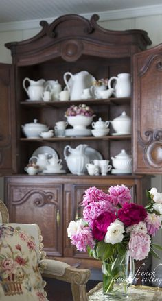 French Antiques~ Buffet Deux Corps