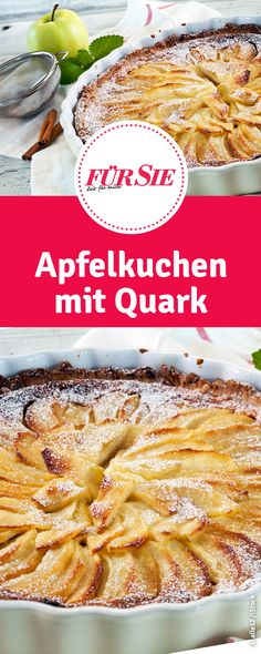 Recipe for apple pie with quark, Quark Recipes, Apple Pie Recipes, Superfood, French Toast, Low Carb, Good Food, Snacks, Chicken, Breakfast