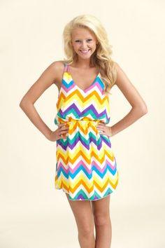Take My Breath Away Chevron Dress...I want this!