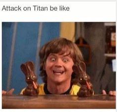Imagen de attack on titan, funny, and anime
