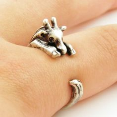 Giraffe Animal Wrap Ring - Silver | KejaJewelry - Jewelry on ArtFire
