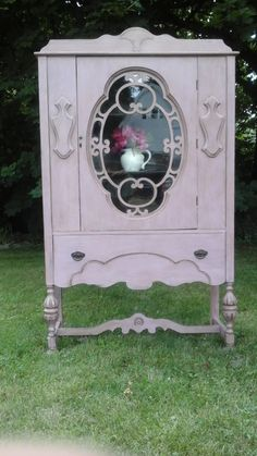 Annie Sloan Painted Furniture Antique China Cabinet by LadyAndVine