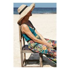 Japanese floppy hat and long tropical trousers Textiles, New Week, Panama Hat, Trousers, Spring Summer, Swimming, Hats, Beach, Tropical