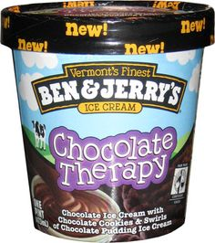 """On Second Scoop: Ice Cream Reviews: Ben & Jerry's Chocolate Therapy """"New"""" for 2012 : An Ice Cream Review  My FAVORITE flavor in the world."""