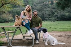 When Carissa and her husband lived in Missouri, they enjoyed taking their dogs on hikes in the woods or to big parks where they could run and swim. Now that they're in LA they feel guilty that they no longer have a massive yard to run in. So instead, they take them on lots of hikes, on walks near creeks so it feels like Missouri, and to new places where they can be let off-leash and just run and pee on things! Ha!