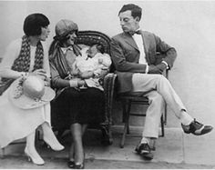 L-R - Natalie, Connie, baby Jimmy and Buster