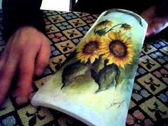 Tegola Decoupage -Girasoli- - YouTube