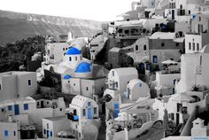 black and white santorini photography - Google Search