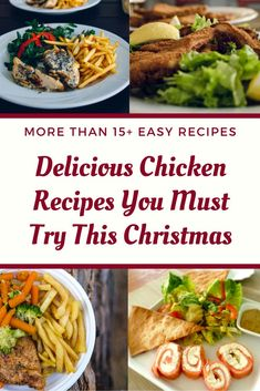 christmas recipes main dish Chicken Recipes for Christmas - Enjoy our best chicken recipes for Christmas dinner eve that you make pretty quickly and serve hot with your family. Chicken Main Course Recipes, Quick Chicken Recipes, Chicken Breast Recipes Healthy, Beef Recipes, Chicken Breast Recipe Video, Maine, Yum Yum Chicken, Appetizer Recipes, The Best