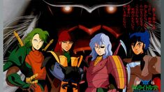 Four Warlords/Mashou in armor without helmets and Talpa/Arago.