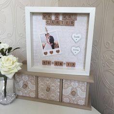 Personalised Scrabble Art Wedding Day Photo Frame Scrabble