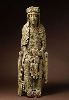 Madonna and Child, Orcival, Church of Notre Dame. Religious Images, Religious Art, Romanesque Sculpture, Roman Art, Mystique, Madonna And Child, Effigy, Medieval Art, Orthodox Icons
