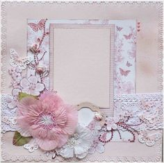 shabby chic scrapbooking layouts | Premade 12x12 Shabby Chic Scrapbook Layout, Zva, Bazzill, Baby, Gift ...